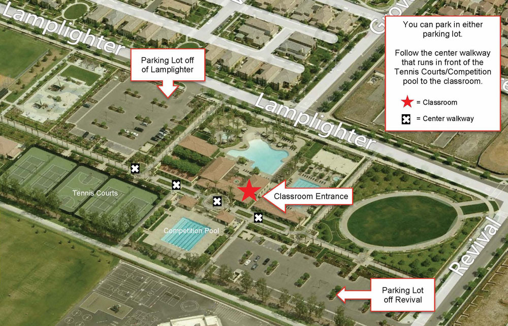 Irvine CPR Class Map